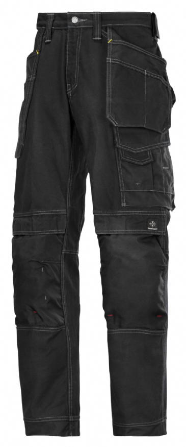 Snickers 3215 Comfort Cotton Craftsmen Holster Pocket Trousers (Black / Black)